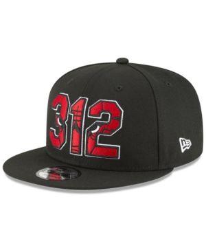 new product 665cd b2147 New Era Chicago Bulls Area Code 9FIFTY Snapback Cap - Black Adjustable