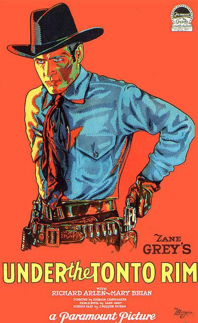 Vintage Movie Poster Fridge Magnet Cowboy Western Zane by Vividiom, $3.00