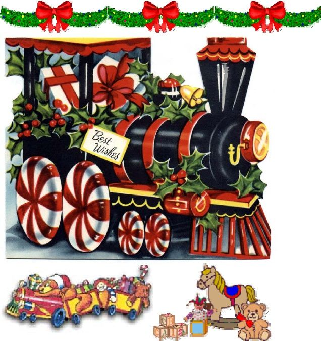 Christmas Train Clipart Images