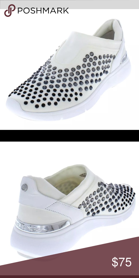 44ad8882061b MICHAEL Michael Kors Women s Ace Trainer Sneakers Ombré rhinestone studs  add glamorous style to these casual