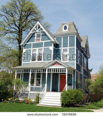Blue Victorian House By Dorn1530 Via Shutterstock Victorian