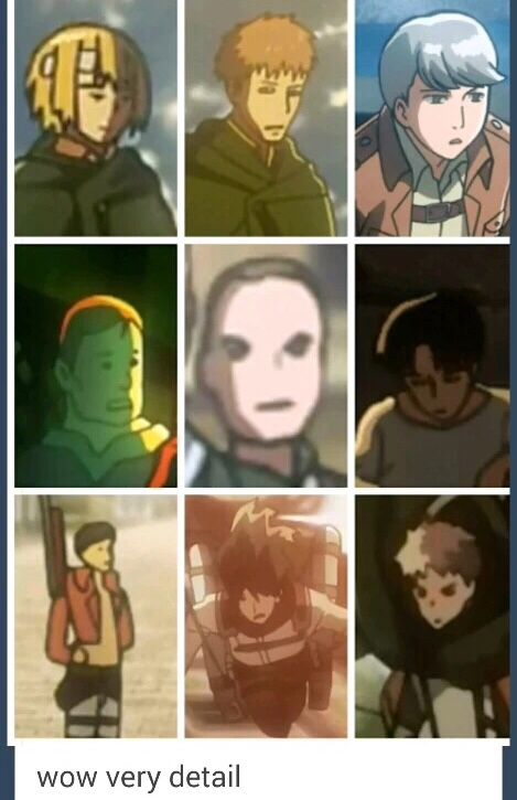 Yes Attack On Titan Is Very Good At Art When It Comes To The Details For Background Characters Attack On Titan Anime Attack On Titan Attack On Titan Funny