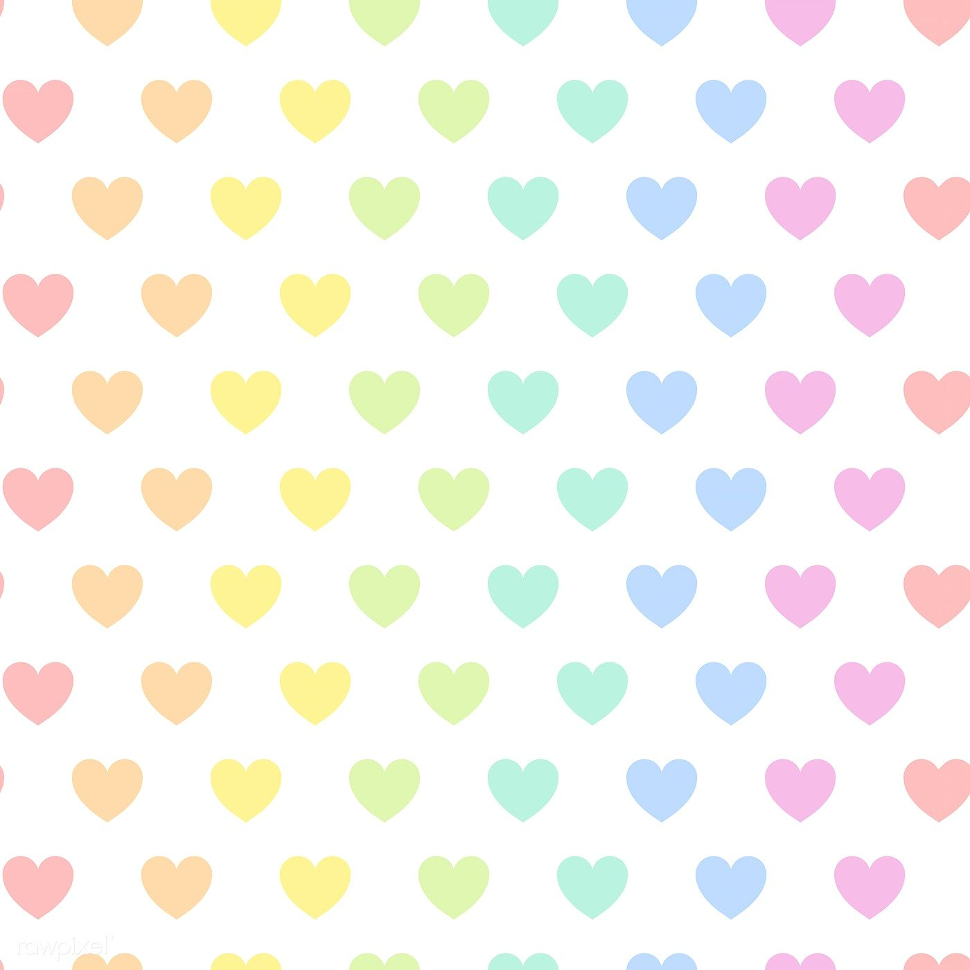 Seamless Colorful Heart Pattern Vector Free Image By Rawpixel Com Manotang Heart Pattern Background Heart Patterns Colorful Heart
