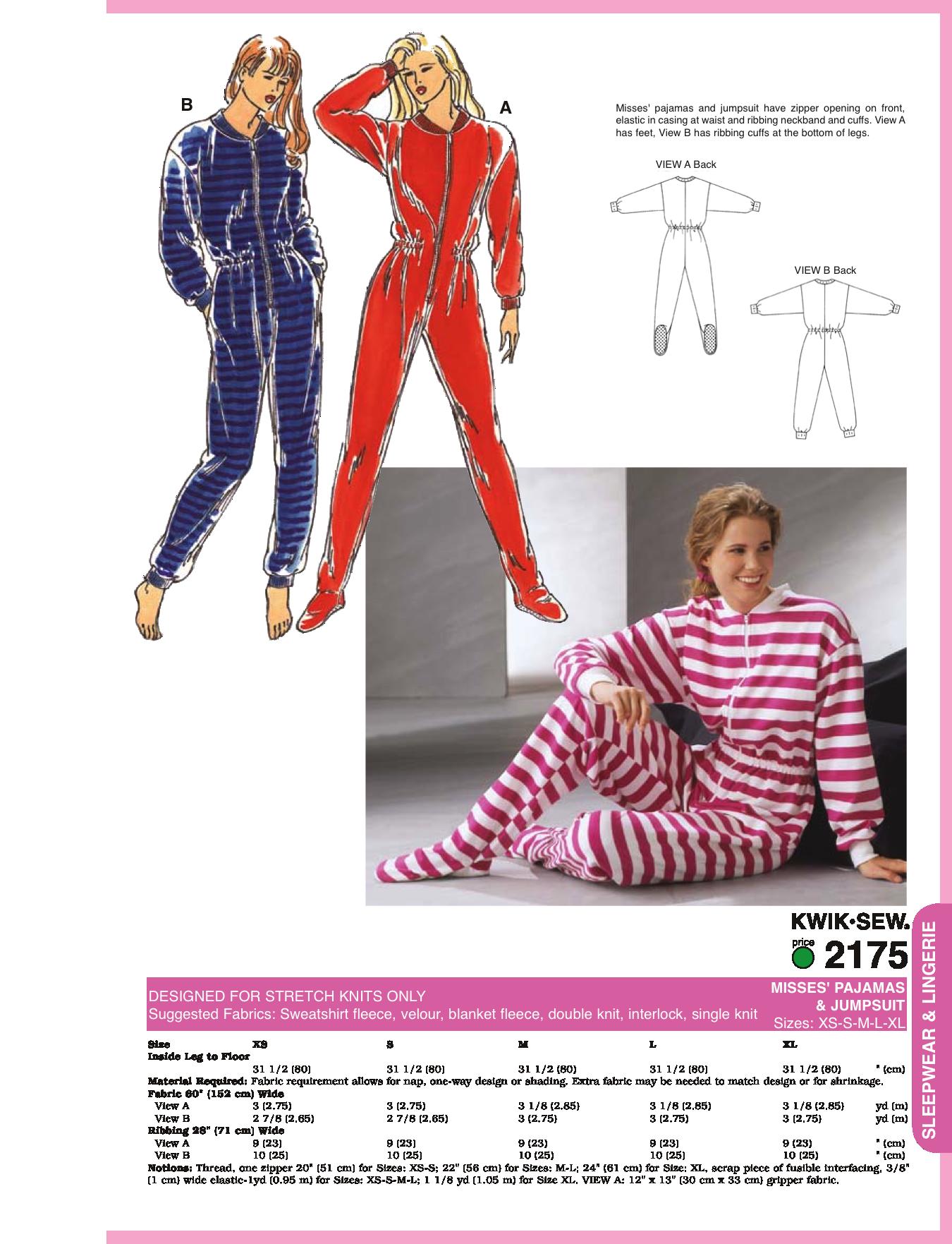 K missesu pyjamas u jumpsuit onesie sewing pinterest