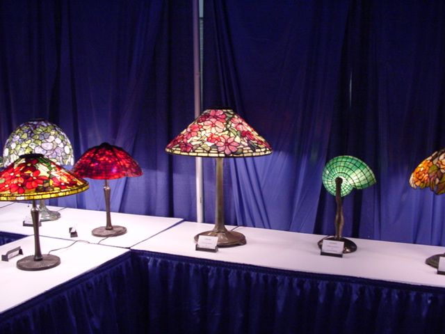 Asgla lamp display at the portland art glass show