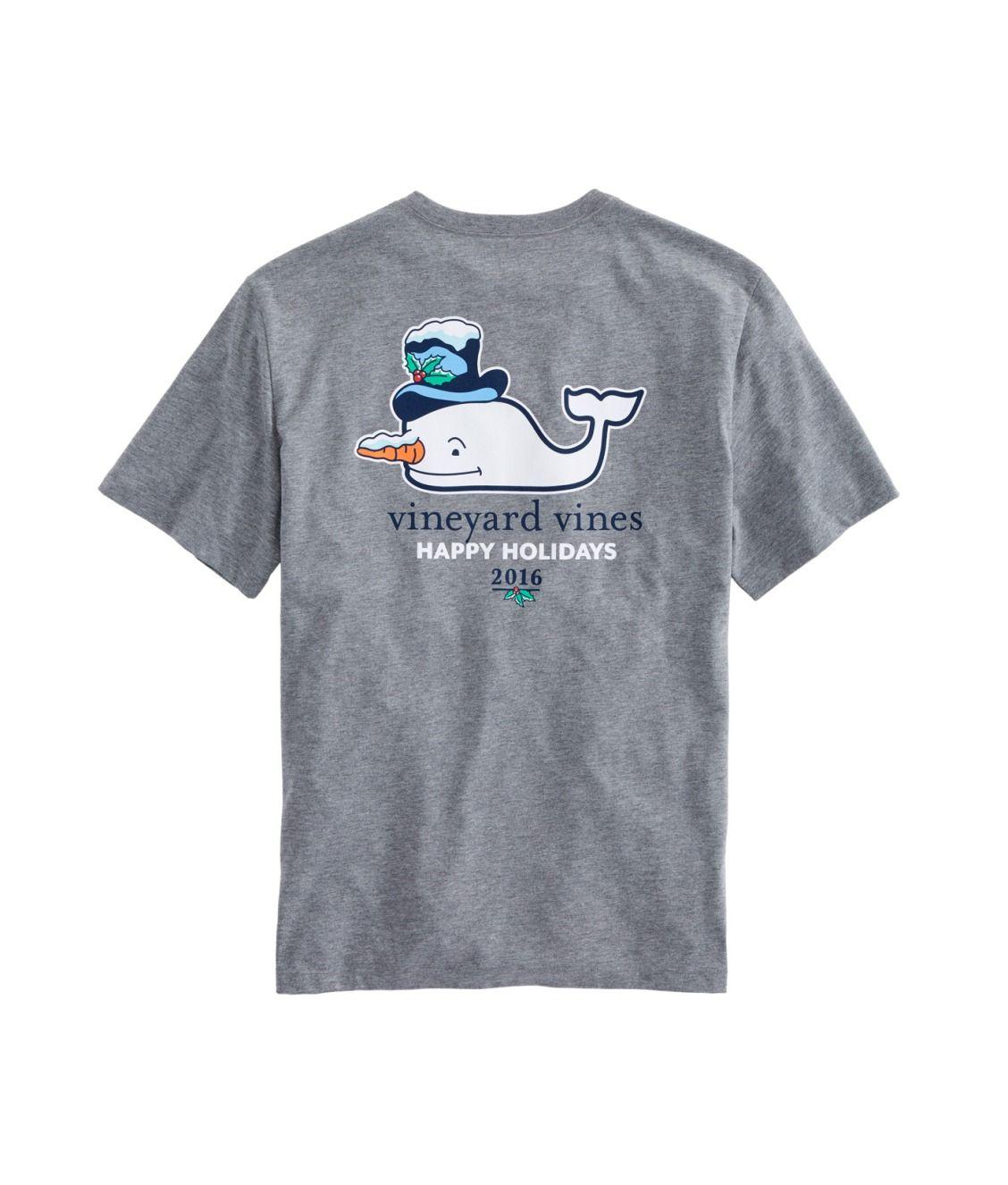 Vineyard Vines Christmas Shirt 2019.Snowman Whale Vineyard Vines Tee 2016 Edsftg Happy