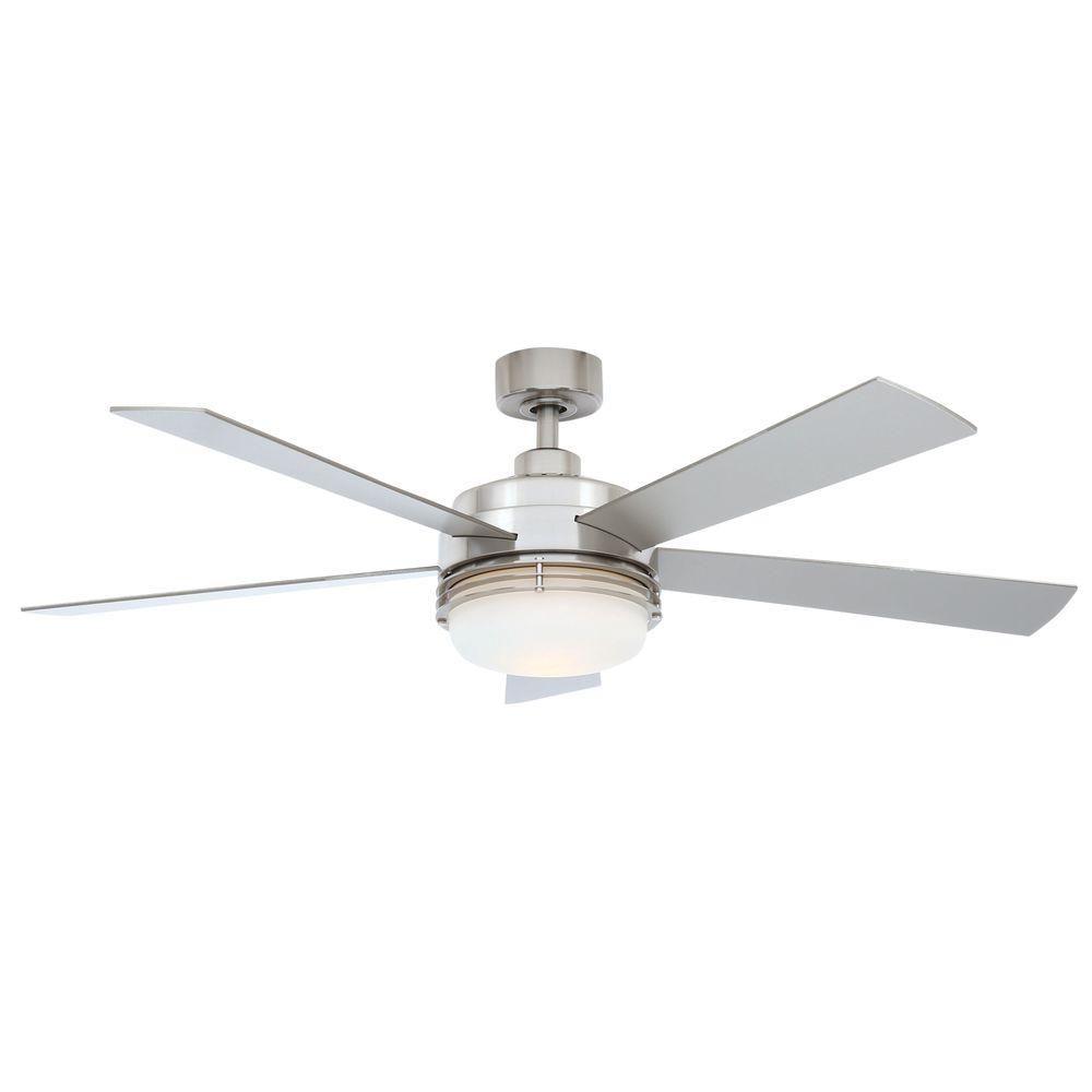 Hampton Bay Sussex Ii 52 In Indoor Brushed Nickel Ceiling Fan