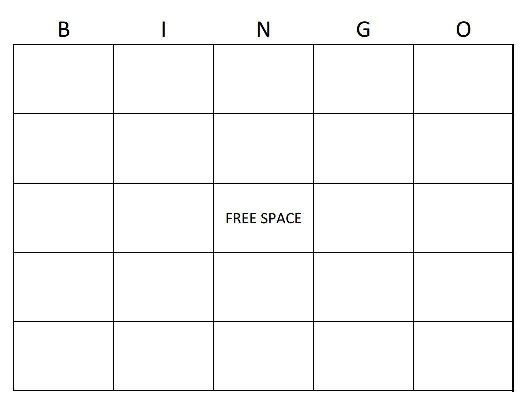 The Cool Bingo Card Template