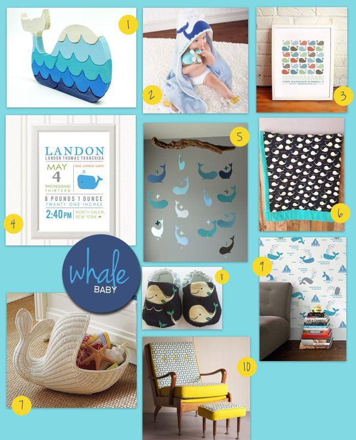 Baby Room Decorating Idea Whale Corner Stork Blog