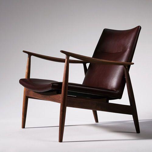 Fauteuil Contemporain En Noyer En Cuir En Tissu RI By - Fauteuil contemporain cuir
