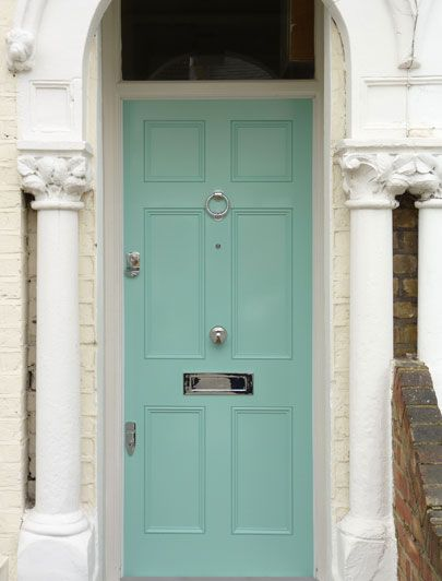 Teal Regency front door by the London Door Company This is a good ...