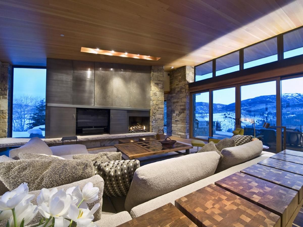 Modern mountain homes vail property search search vail Mountain home interiors