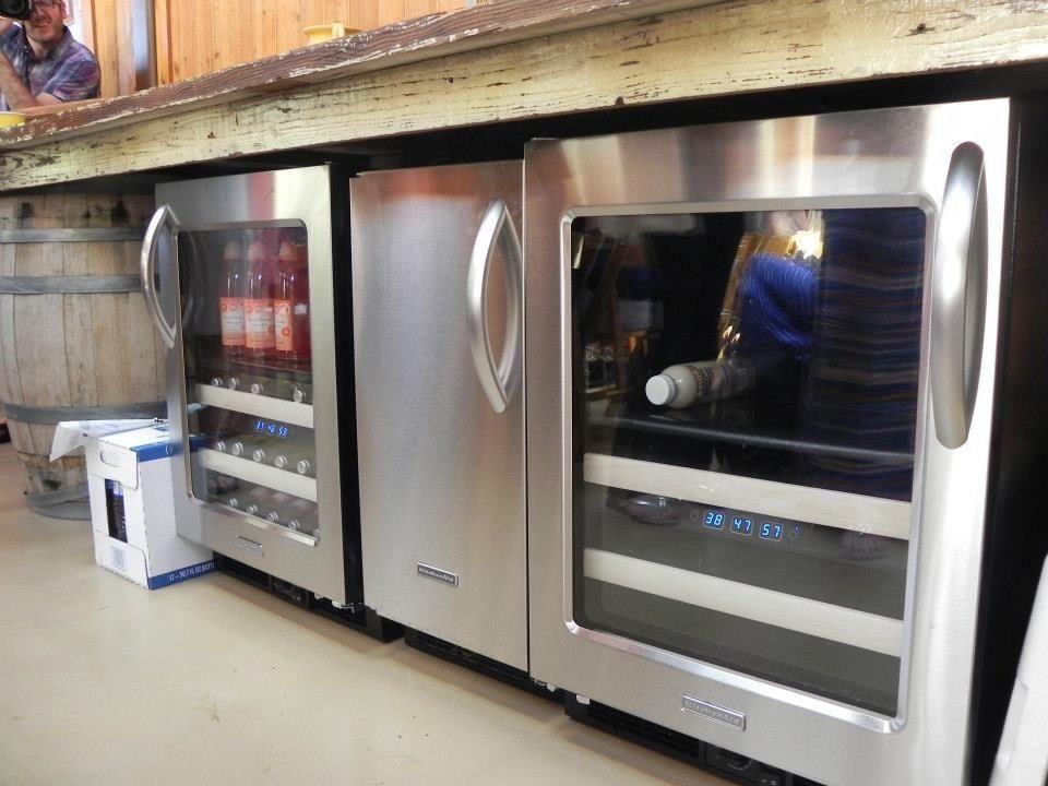 Kitchen aid beverage center and ice maker kitchen