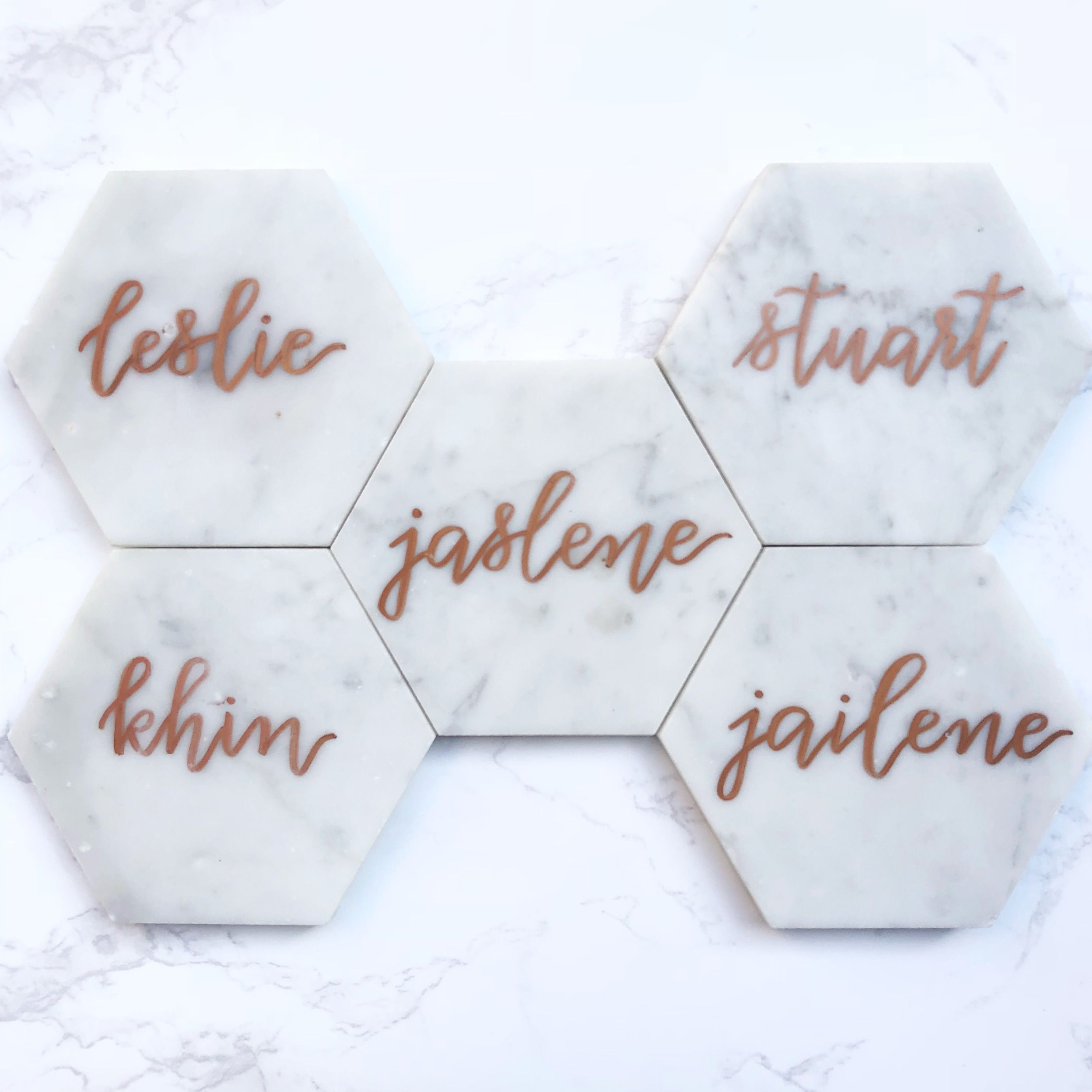 Customized marble coaster wedding favors. For inquiries email ...