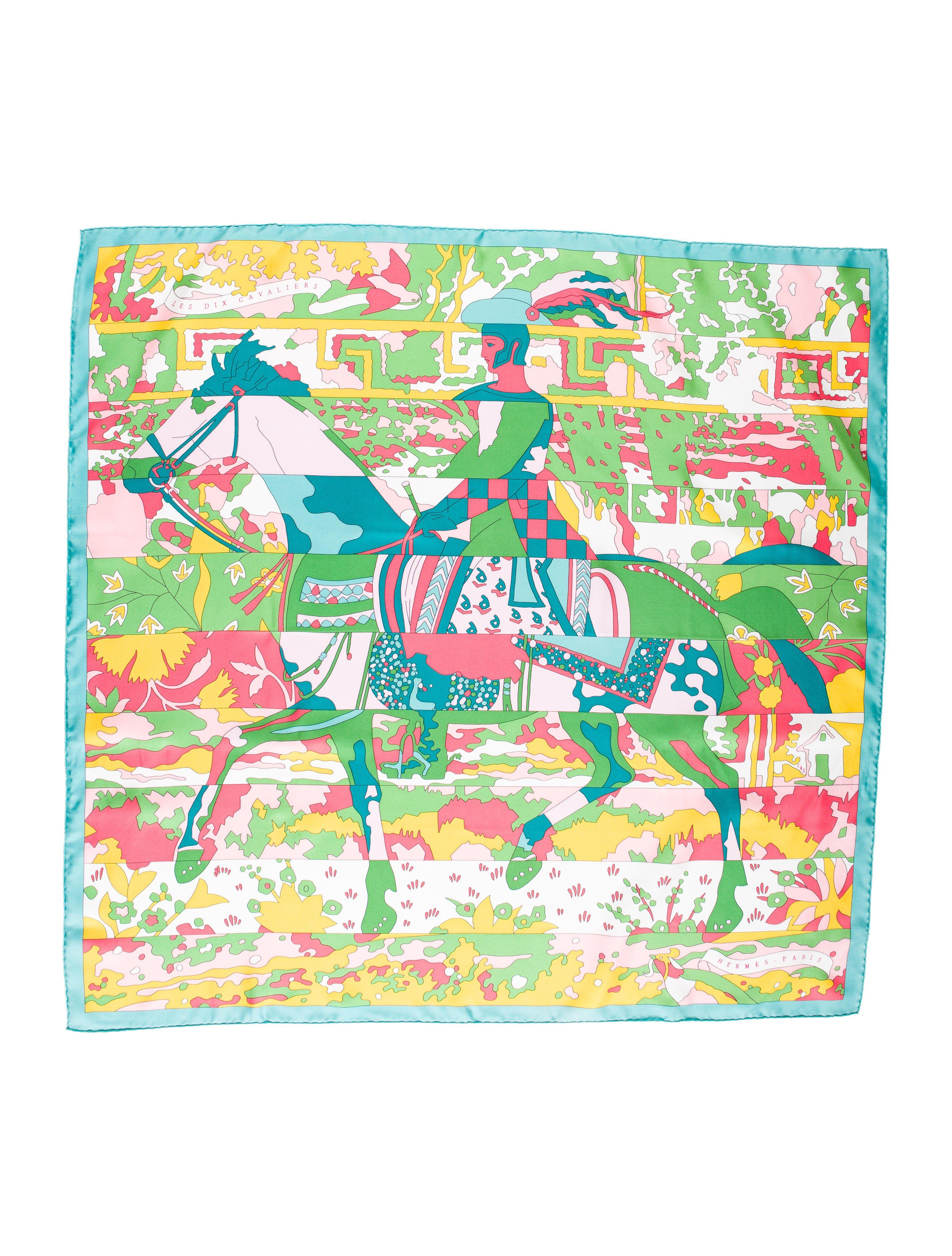 0de16185c42a Hermès - Les Dix Cavaliers   Hermes Scarves   Pinterest   Silk ...