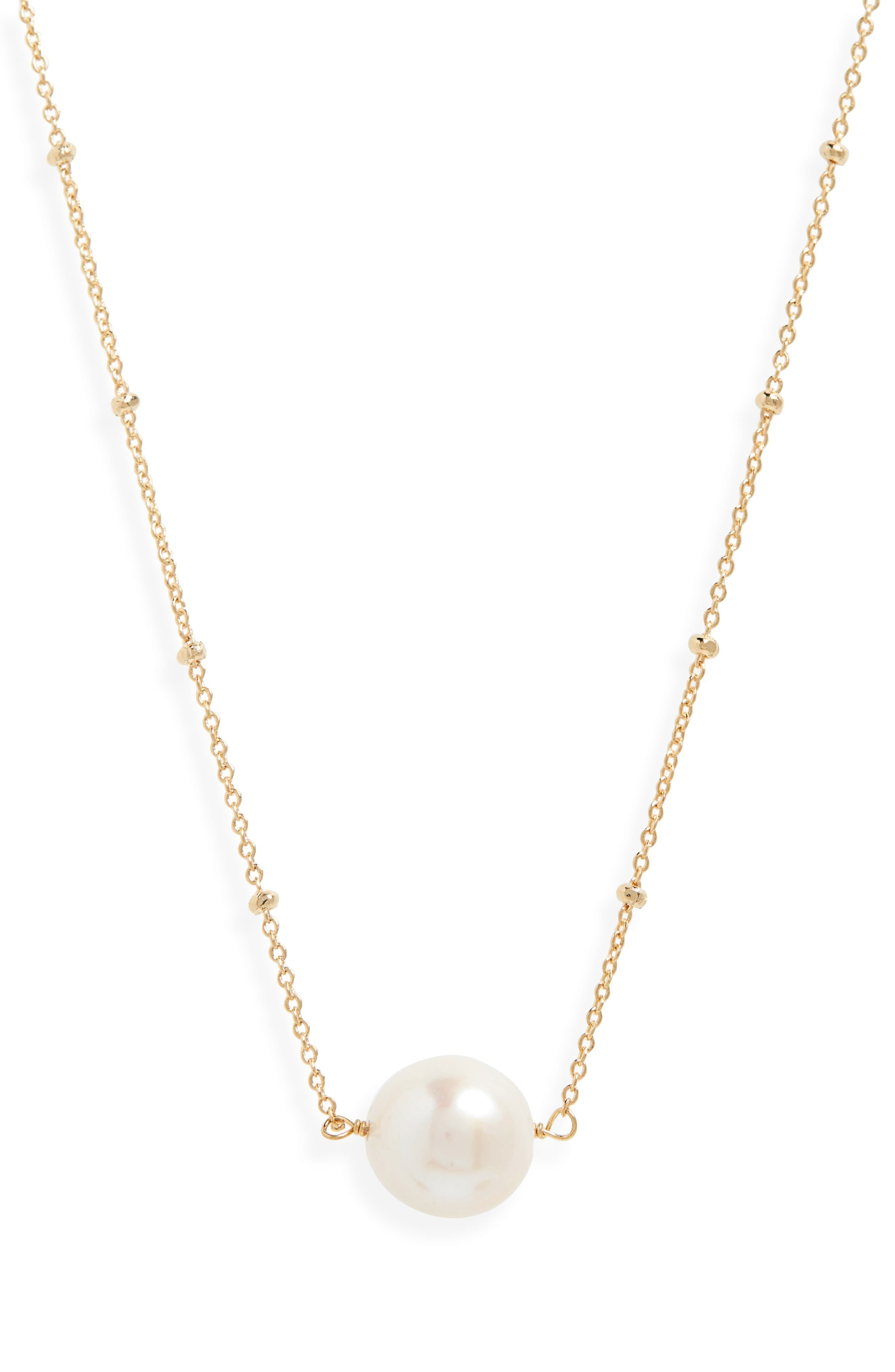 f0236211ee70d6 Serefina Delicate Genuine Pearl Necklace in 2019 | Products | Pearl ...