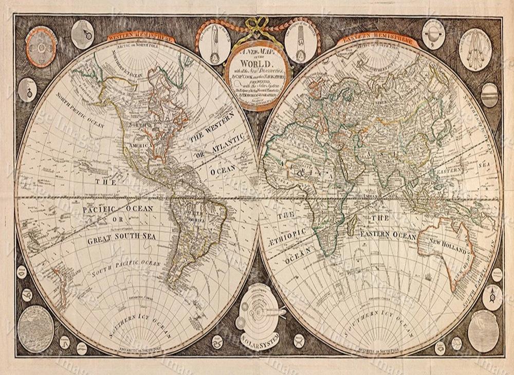 Old World Map Giant Historic Map 1799 Thomas Kitchen World Etsy World Atlas Map World Map Art Map Art Print