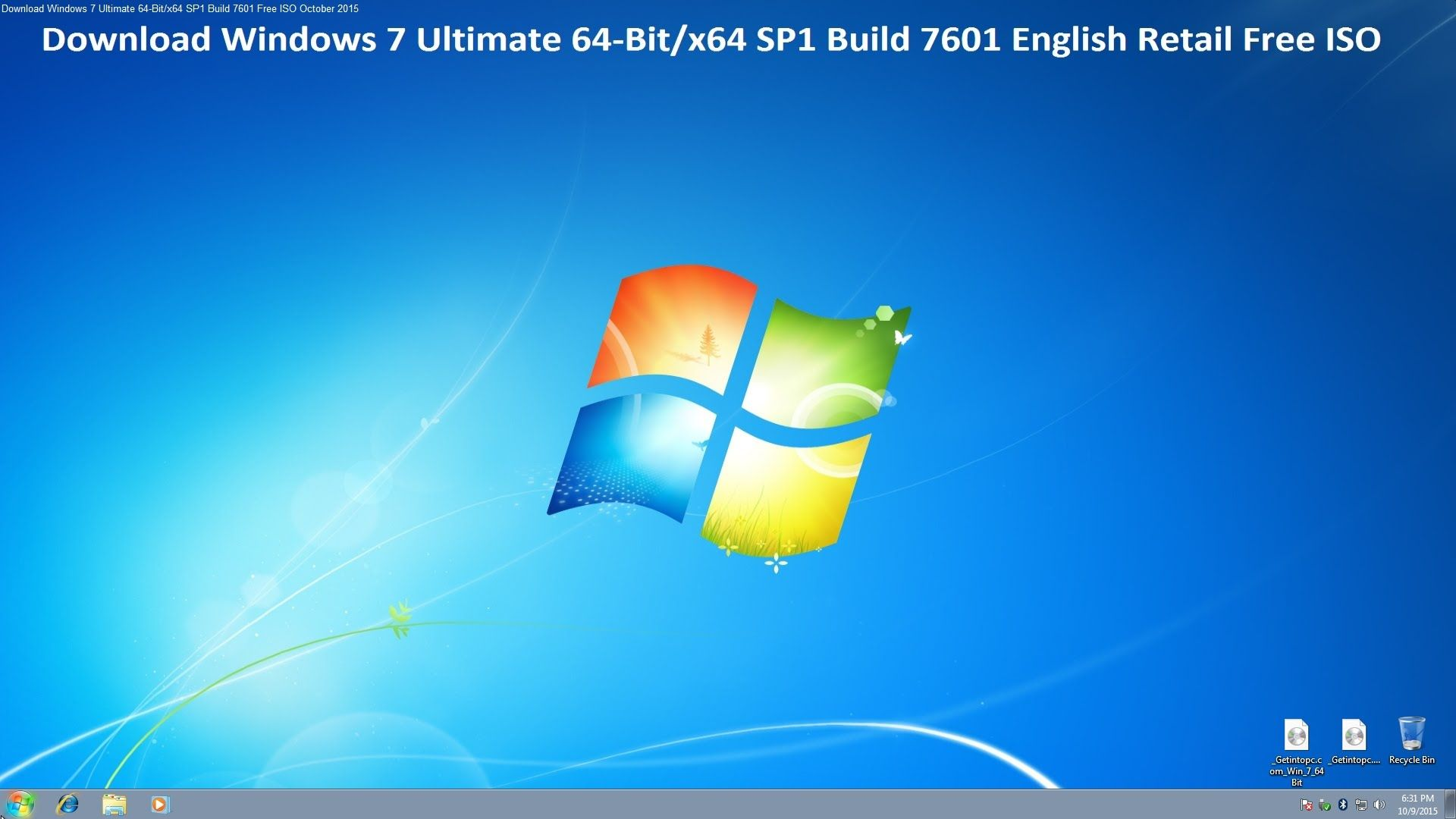 Download Windows 7 Ultimate 64Bit/x64 SP1 Build 7601 Free ISO