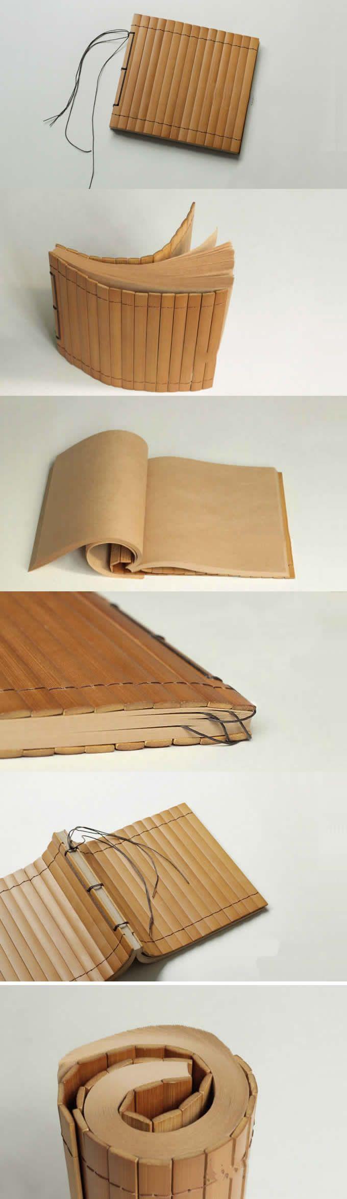 Bamboo Cover Notebook Sampul Buku Buku Catatan Buku Bagus