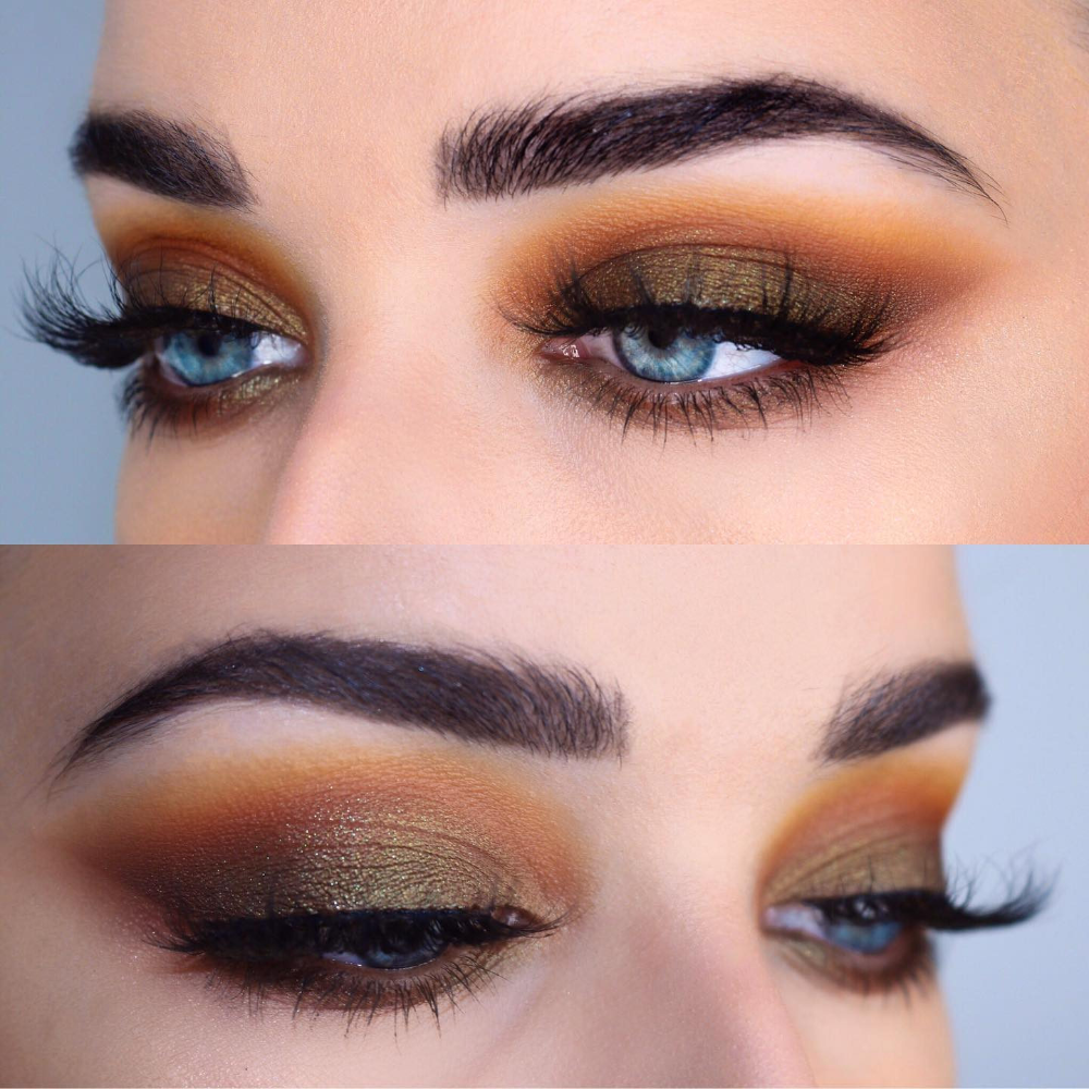 Smoked out burnt orange and green | Fall makeup looks