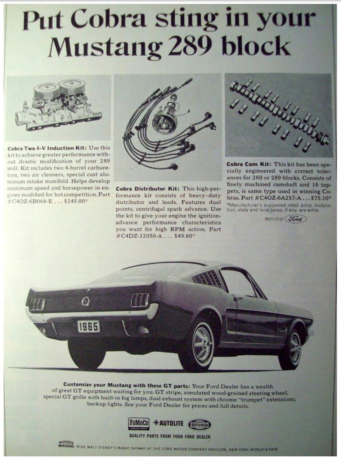 60\'s Ford Mustang performance parts #mustangclassiccars | Mustang ...