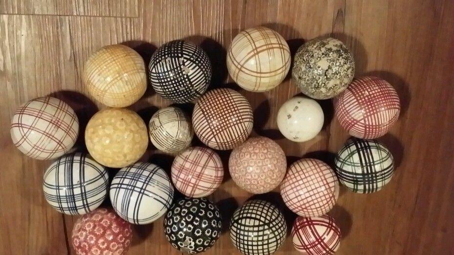 Antique Scottish Carpet Balls 20 Pieces Carpet Bowls Antiques Indoor Carpet