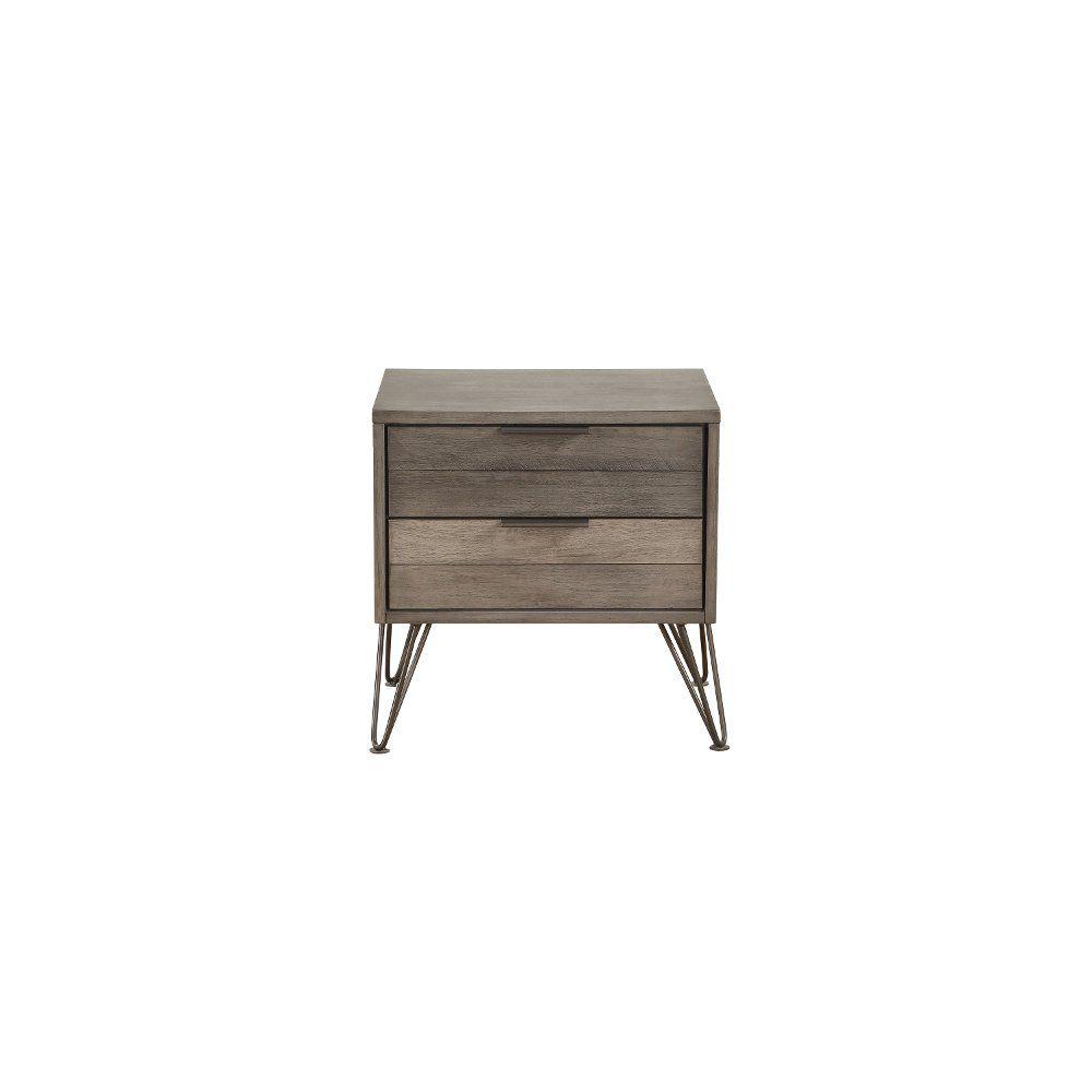 Best Modern Industrial Gray Nightstand Urbanite Bedroom 400 x 300