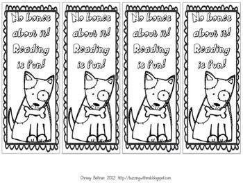 dog bookmarks to color literacy ideas bookmarks kids reading bookmarks free printable. Black Bedroom Furniture Sets. Home Design Ideas