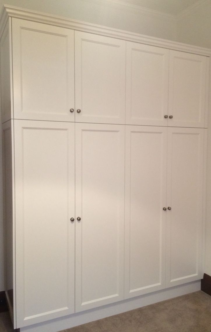 bedroom wardrobe doors and panels: castle shaker style 2 pack