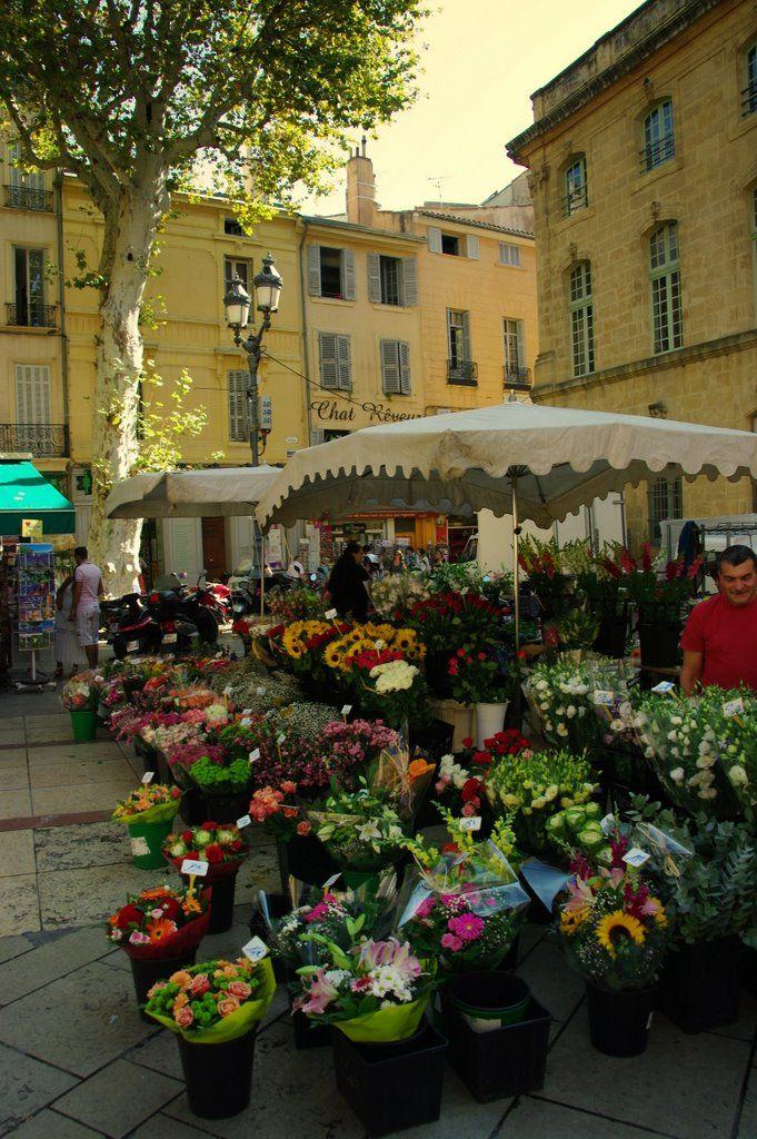 aix en provence flower market in aix en provence march aux fleurs aix en provence. Black Bedroom Furniture Sets. Home Design Ideas