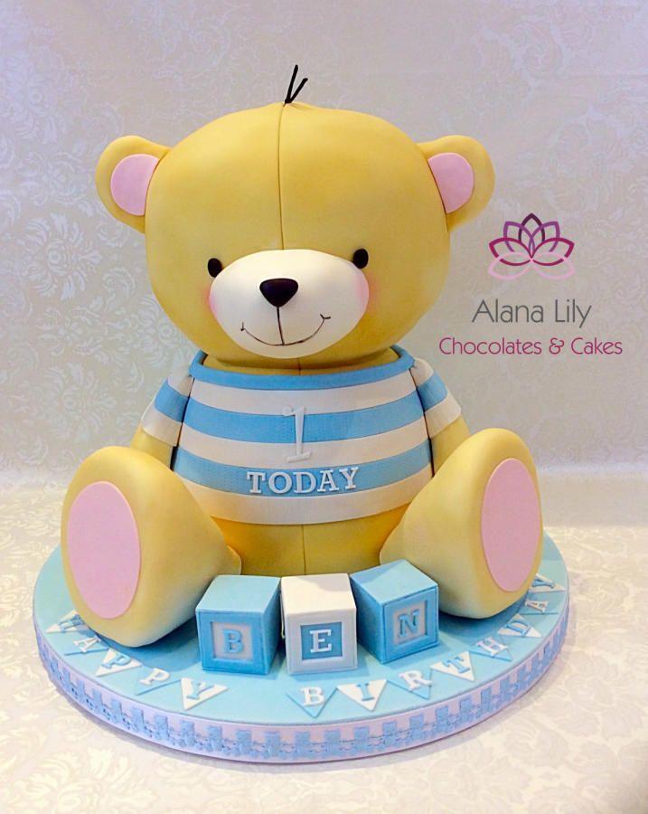 Forever Friends St Birthday Cake By Alana Lily Chocolates  Cakes - Bear birthday cake