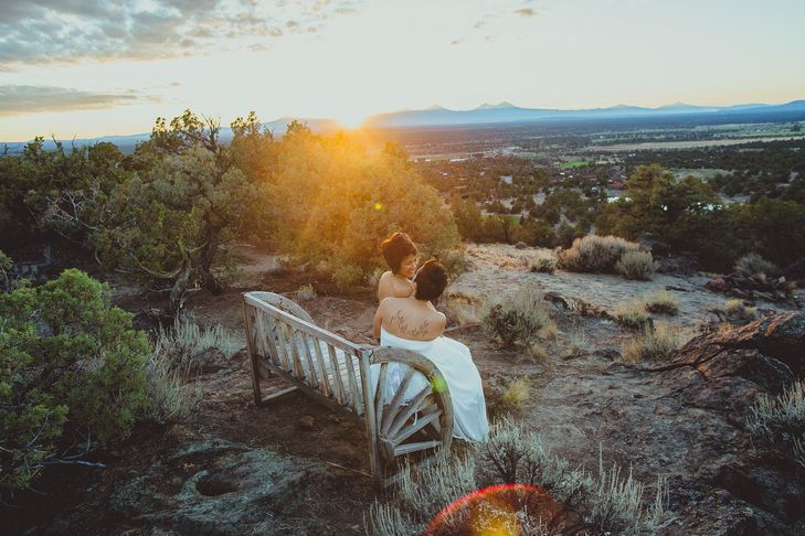 Beautiful sunsets make for beautiful weddings at brasada