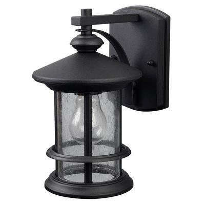 Canarm Ltd Ryder 1 Light Black Wall Lantern Seeded