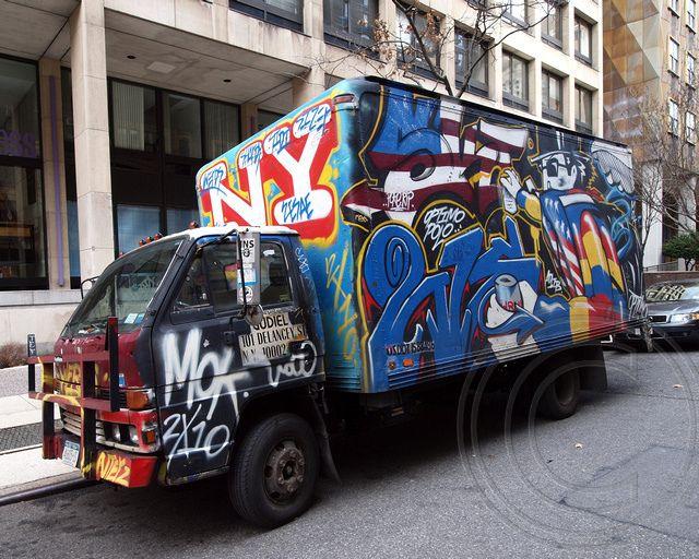 Graffiti Transportation Truck Art Transportation Trucks