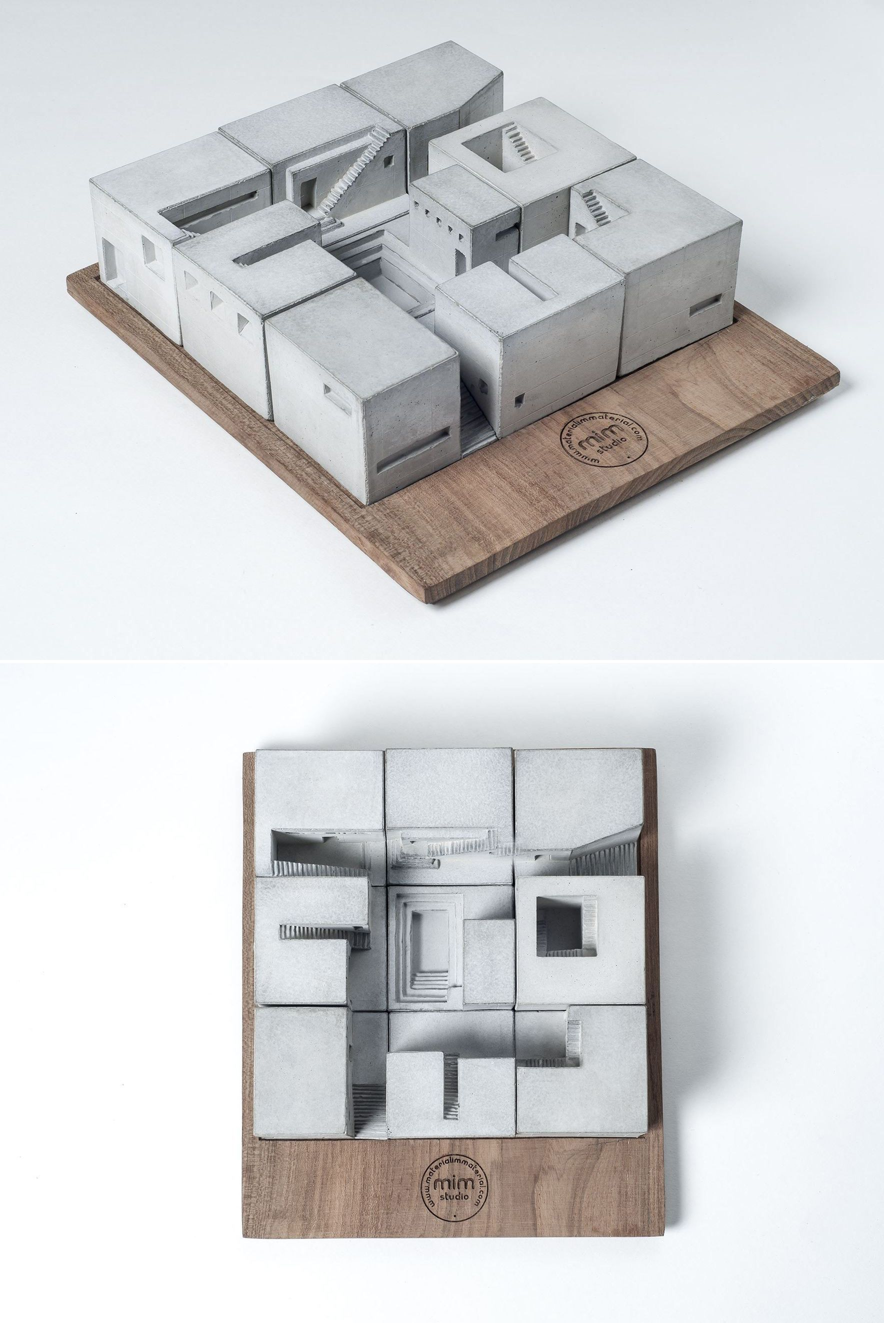 Picture Book Illustration Making An Architectural Model: Miniature Concrete Homes (Complete Set)