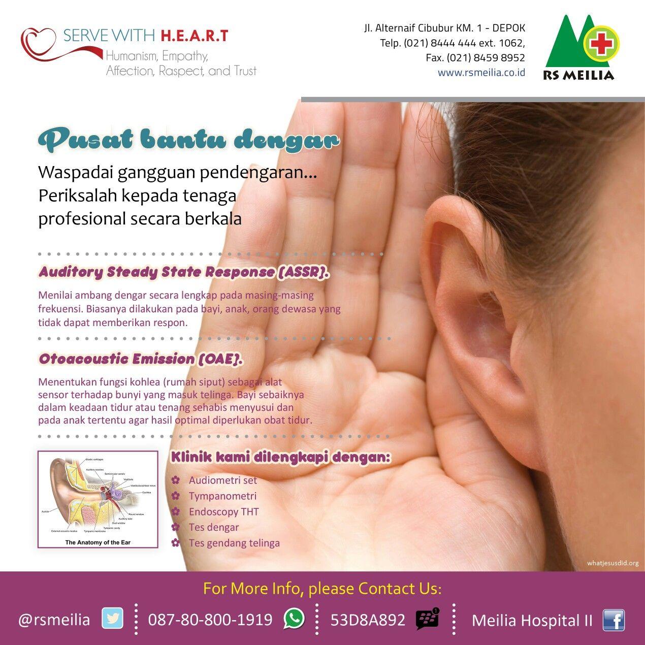 Klinik Dengar Pendengaran Tht Telinga Layanan Kesehatan Alat Bantu Jakarta Dokter
