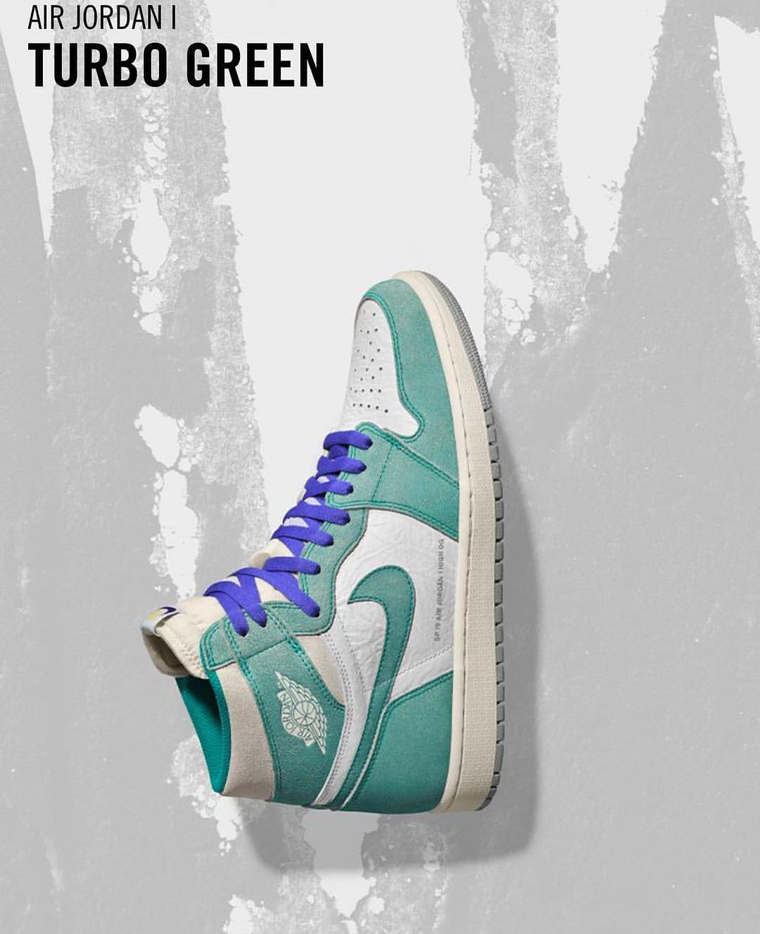 Turbo Greens With The Alternate Purple Laces