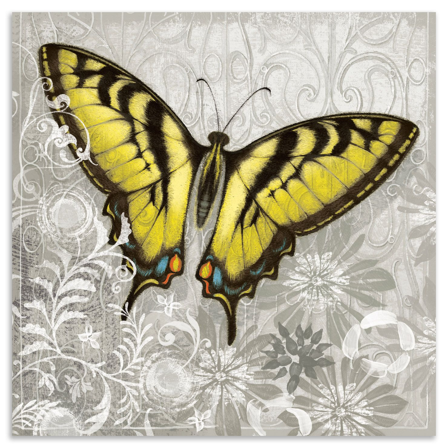 Alan Hopfensperger - Yellow Butterfly III, Plexiglass Wall Hanging ...