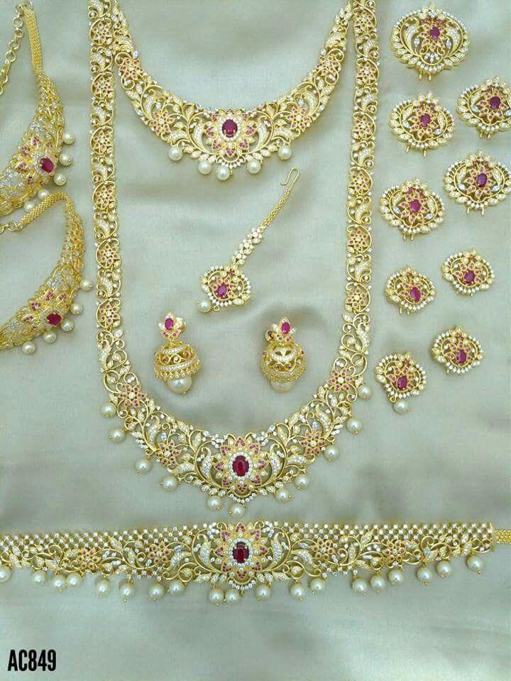 2ff0c2cdb5673 Pin by janaki on břîdä/jęwęl$j   Jewelry, Wedding jewelry, Bridal ...
