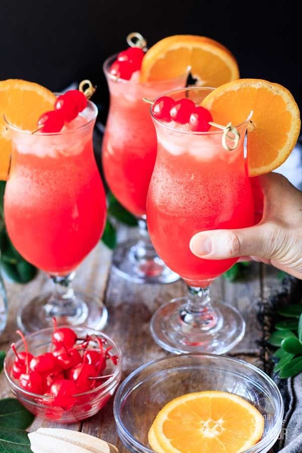 Hurricane Mocktail Recipe Passion Fruit Syrup Passion