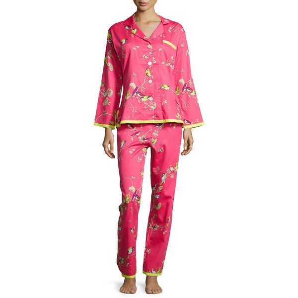 8f09f813e Bedhead Red Birds & Branches Long-Sleeve Pajama Set ($165) ❤ liked on  Polyvore featuring intimates, sleepwear, pajamas, redprt, long sleeve  sleepwear, ...