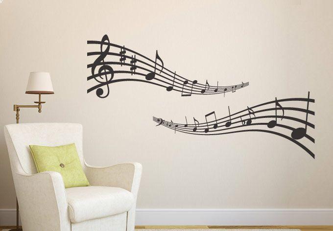 Wall decals musical notes wall decal music vinyl sticker decor