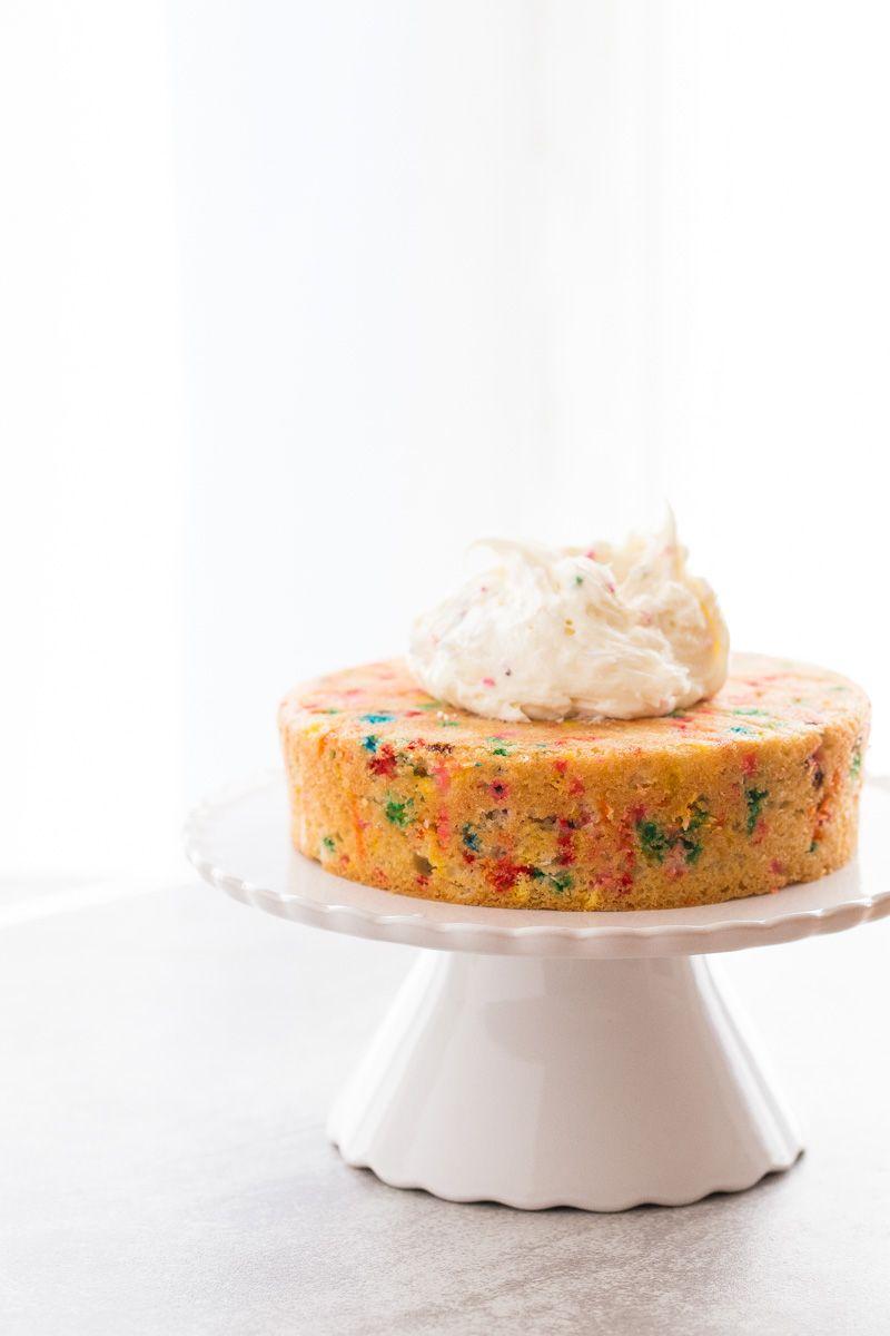 Homemade funfetti layer cake recipe cake for two recipe
