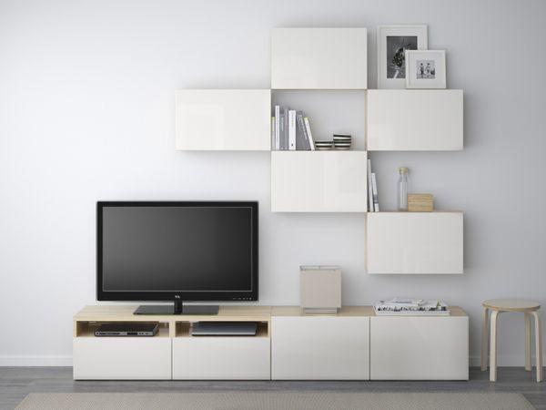 Decoraci n 15 composiciones de muebles tv con la serie besta de ikea hogar dulce hogar - Ikea muebles blancos ...