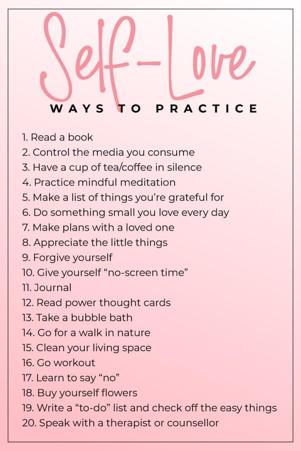 20 different ways you can practice self-love today #selfcare #selflove