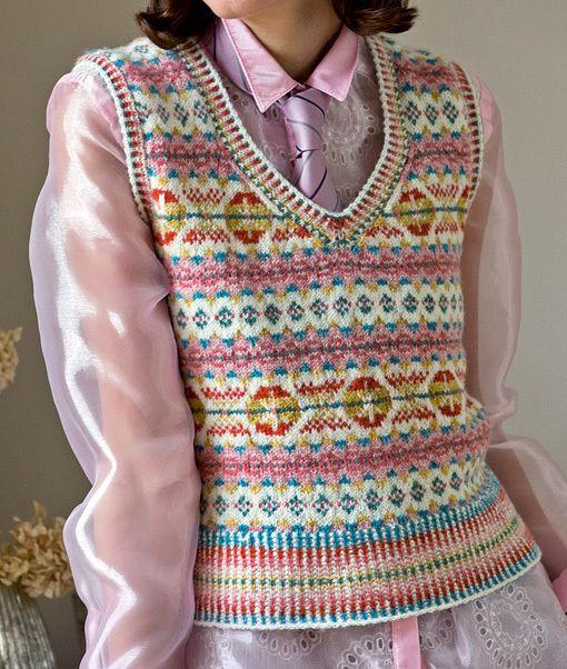 Fairisle vest by Mary Henderson | Shetland Knitting | Pinterest ...