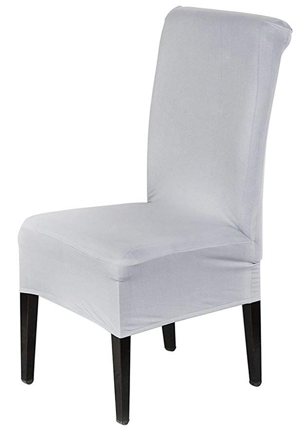 Home Textile White Spandex Wedding Chair Cover Dining Room Chair Decor Set Party Stretch Seat Chair Cover