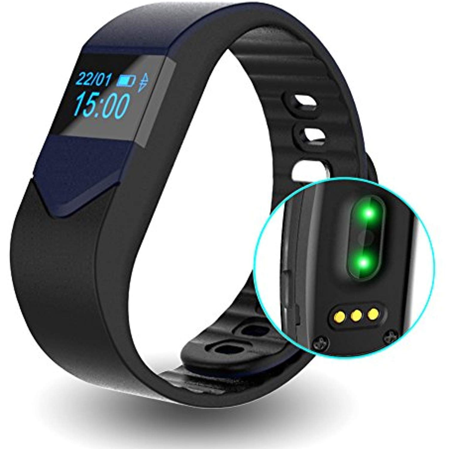 2727ada01f0e10 EIISON Fitness Tracker with Heart Rate monitor E3S Activity Watch Step  Walking Sleep Counter Wireless Wristband