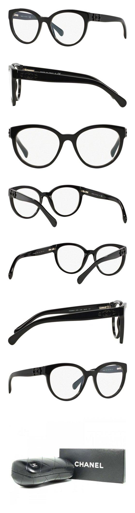 Chanel 3308 C501 Black 52 Eyewear #apparel #accessory #chanel ...