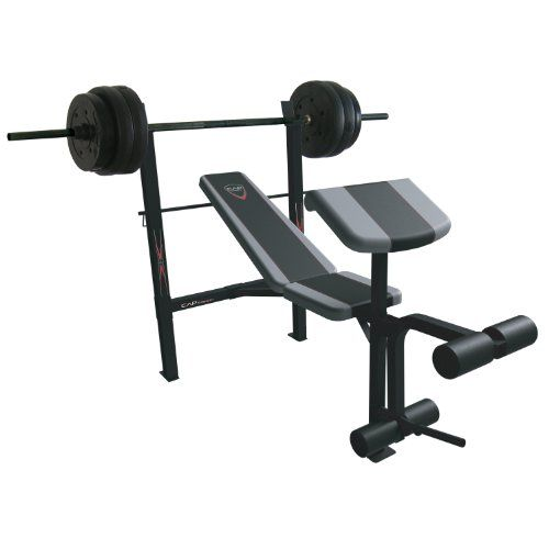Buy Cap Barbell Exercise Combo Bench With 80 Pound Weight Set Preacher And Leg Extension Designed With A Com Weight Benches Barbell Workout Weight Bench Set